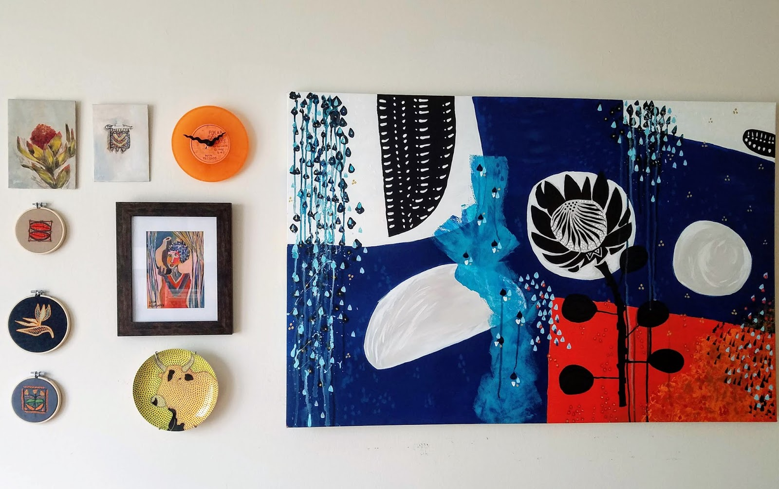 mixed media gallery wall