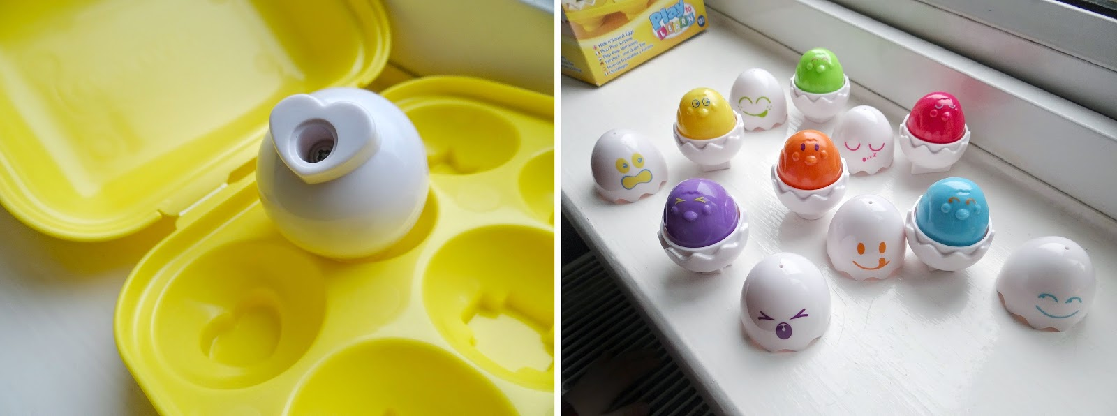 TOMY Hide n Squeak Eggs, Easter eggs for babies and toddlers, play to learn Easter