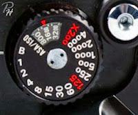 Contoh ASA dial Nikon FM2 black