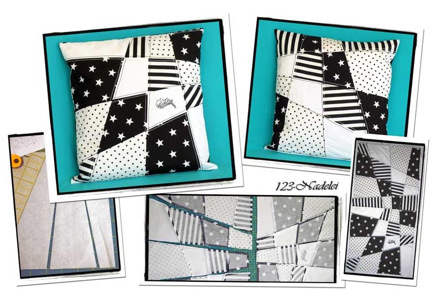 123 nadelei patchwork kissen mit b gelvlies. Black Bedroom Furniture Sets. Home Design Ideas