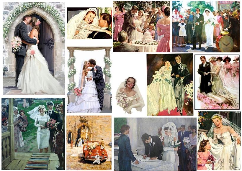 Cuadros retro de bodas oh my bodas - Cosas para preparar una boda ...