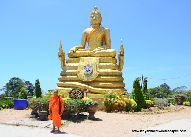 The Golden Buddha near the Big Buddha in Nakkred Hills