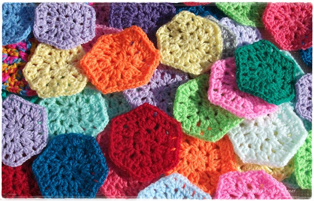 hexagons,crochet,easy crochet,blankets,charity,bright,colourful