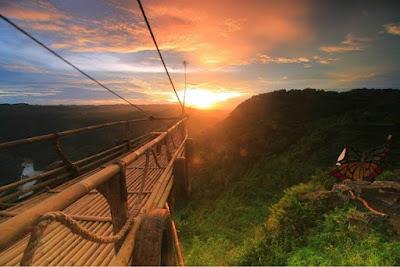 Foto Jurang tembelan Saat Sunset