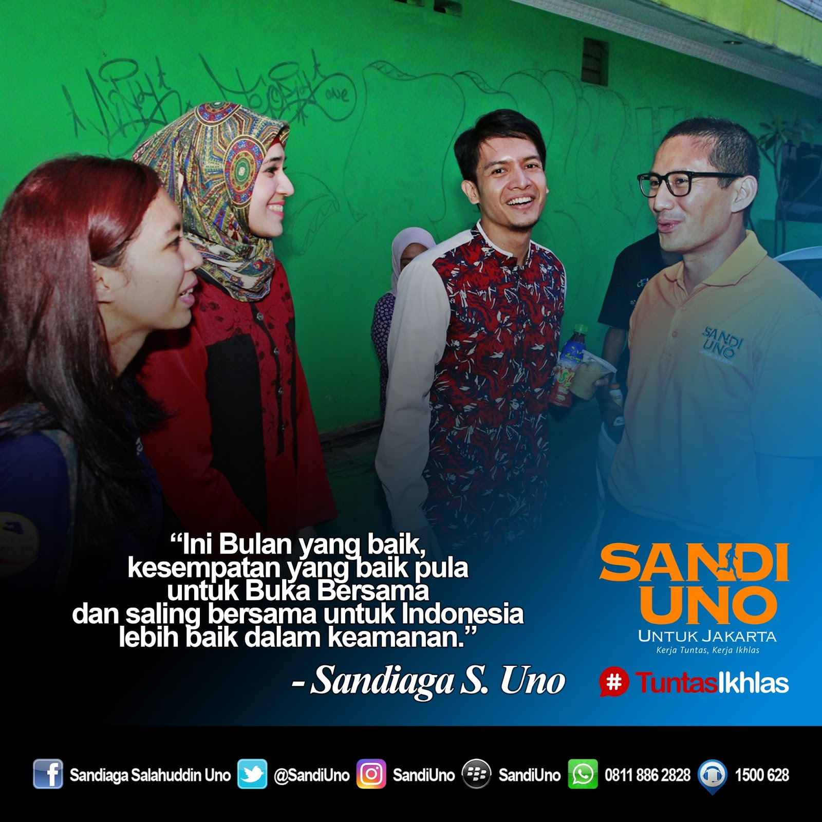Sandi Uno DKI Jakarta Juni 2016