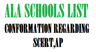 PRIMARY EDUCATION ALA SCHOOLS LIST CONFORMATION REGARDING- SCERT,AP