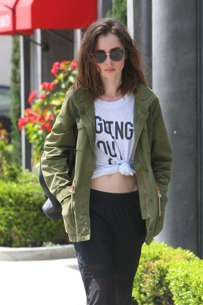 Lily Collins Spring Street Fashion Out in WeHo, CA
