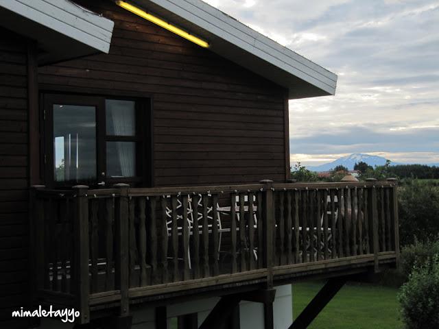 Hotel Hekla ante la mirada del volcán que le da nombre