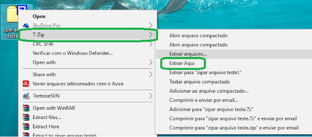 Tutorial 7-zip: Extrair arquivo compactado