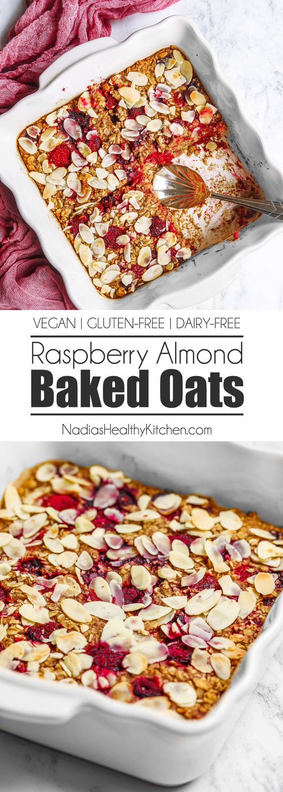RASPBERRY ALMOND BAKED OATS