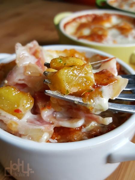 Las mejores patatas fritas con beicon y mozzarella del mundo mundial