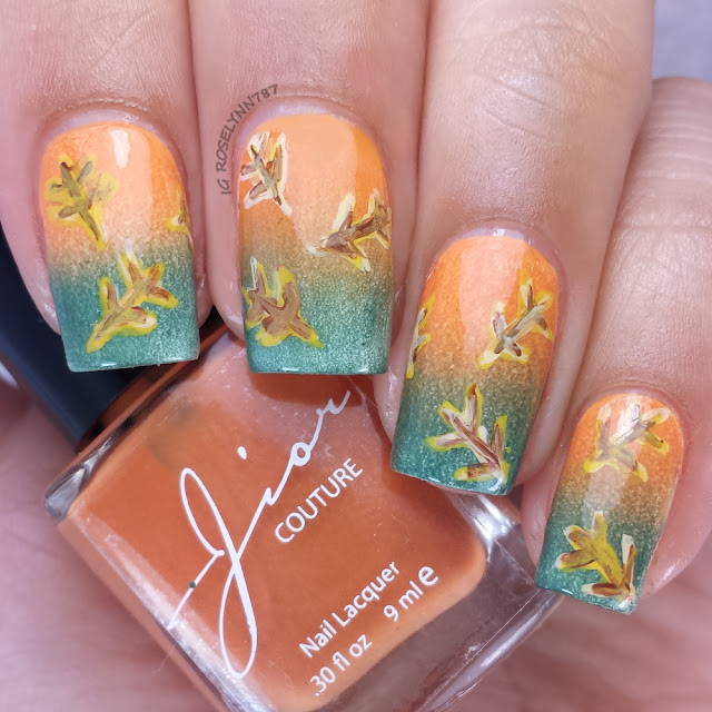 Thatleanne Firey Autumn Leaves Nail Art: Emberlinmoon