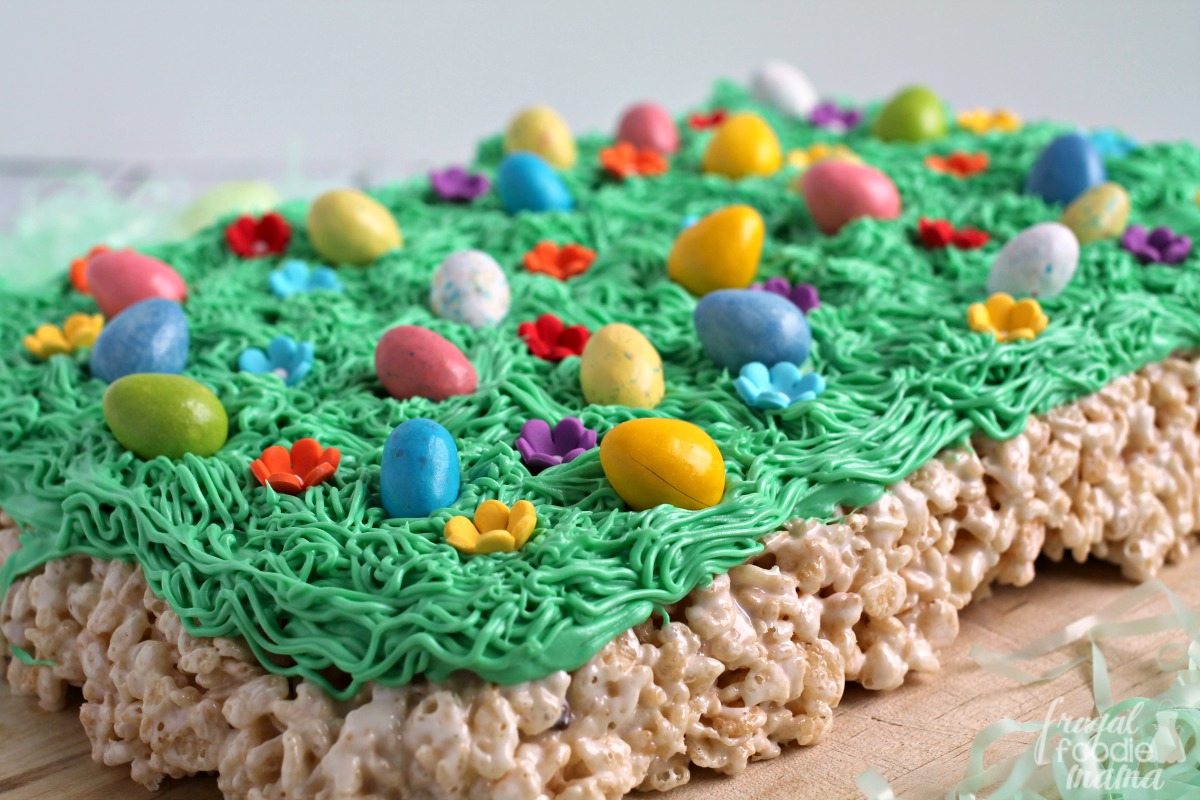 Frugal foodie mama easter egg hunt rice krispies treats inspired by a favorite springtime tradition these fun easy to make easter egg hunt ccuart