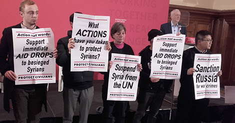 Does Corbyn back aid drops to starving Syrians?