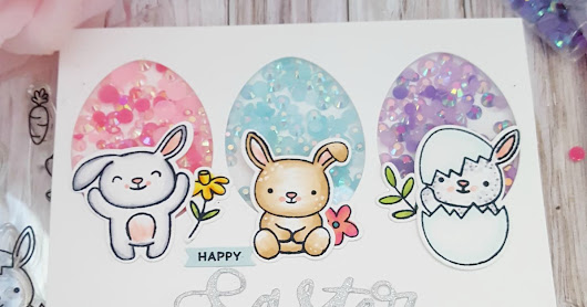 Happy Easter Shaker card featuring Pretty Pink Posh