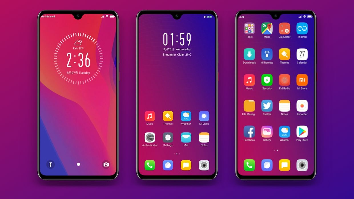 Yest Gradient MIUI Theme Download