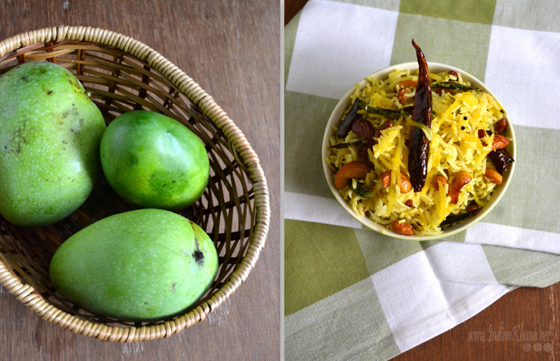 Mango Rice Mangai Sadam Recipe