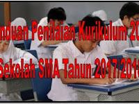 Panduan Penilaian Kurikulum 2013 Sekolah SMA Tahun 2017/2018