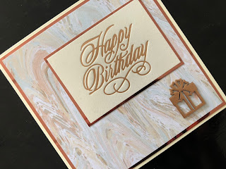 Hand Made Birthday Card with Hot Foil Greeting and Foiled Wooden Embellishment