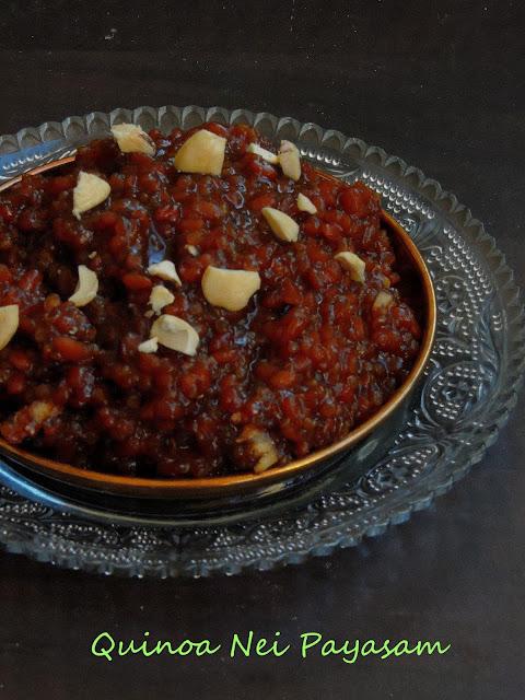 Quinoa jaggery payasam