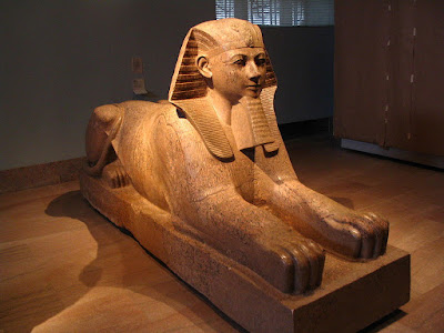 Sphinx sculpture in Metropolitan Museum of Art, New York