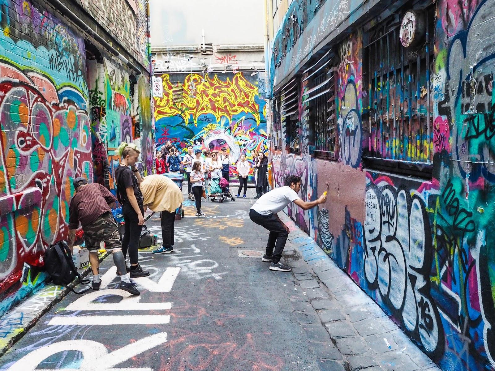 Hosier Lane street art in Melbourne