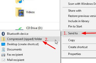 How to Zip a files or folders