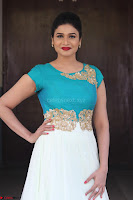 Anjena Kirti in Green and white Anarkali Dress Cute Makeup Latest Pics 005.JPG