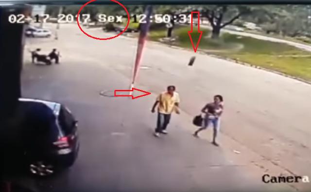 حادث مذهل وغريب في البرازيل لولا الفيديو لما صَدقه أحد وماذ تعني هذه الكلمة التي  في أعلى الفيديو الرئيسي...