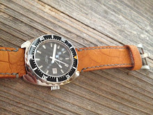 David's Eterna Super Kontiki on Sunrise Ostrich Leg skin