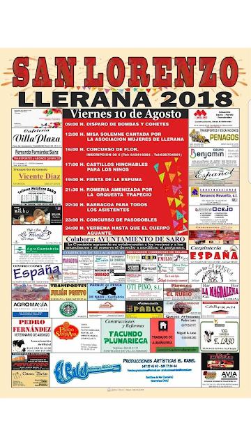 Fiestas de San Lorenzo en Llerana 2018