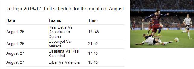 El Clasico 2016, El Clasico News, El Clasico Schedule, La Liga 2016-17, La Liga Fixtures, La Liga Fixtures 2016-17, La Liga News 2016, La Liga Schedule,