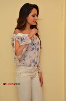 Actress Pragya Jaiswal Latest Pos in White Denim Jeans at Nakshatram Movie Teaser Launch  0023.JPG