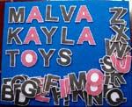 Mainan Edukasi Anak Flanel Set Huruf Besar