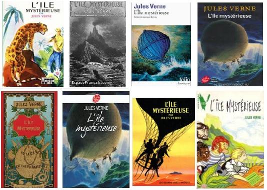 Jules Verne A rejtelmes sziget könyvborítók