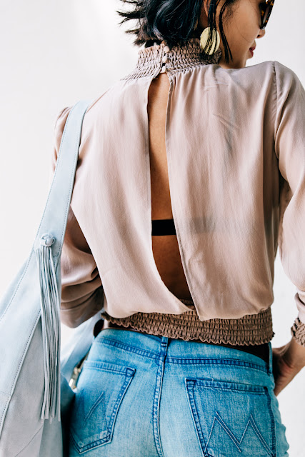 victorian blouse with open back {Cool Chic Style Fashion}