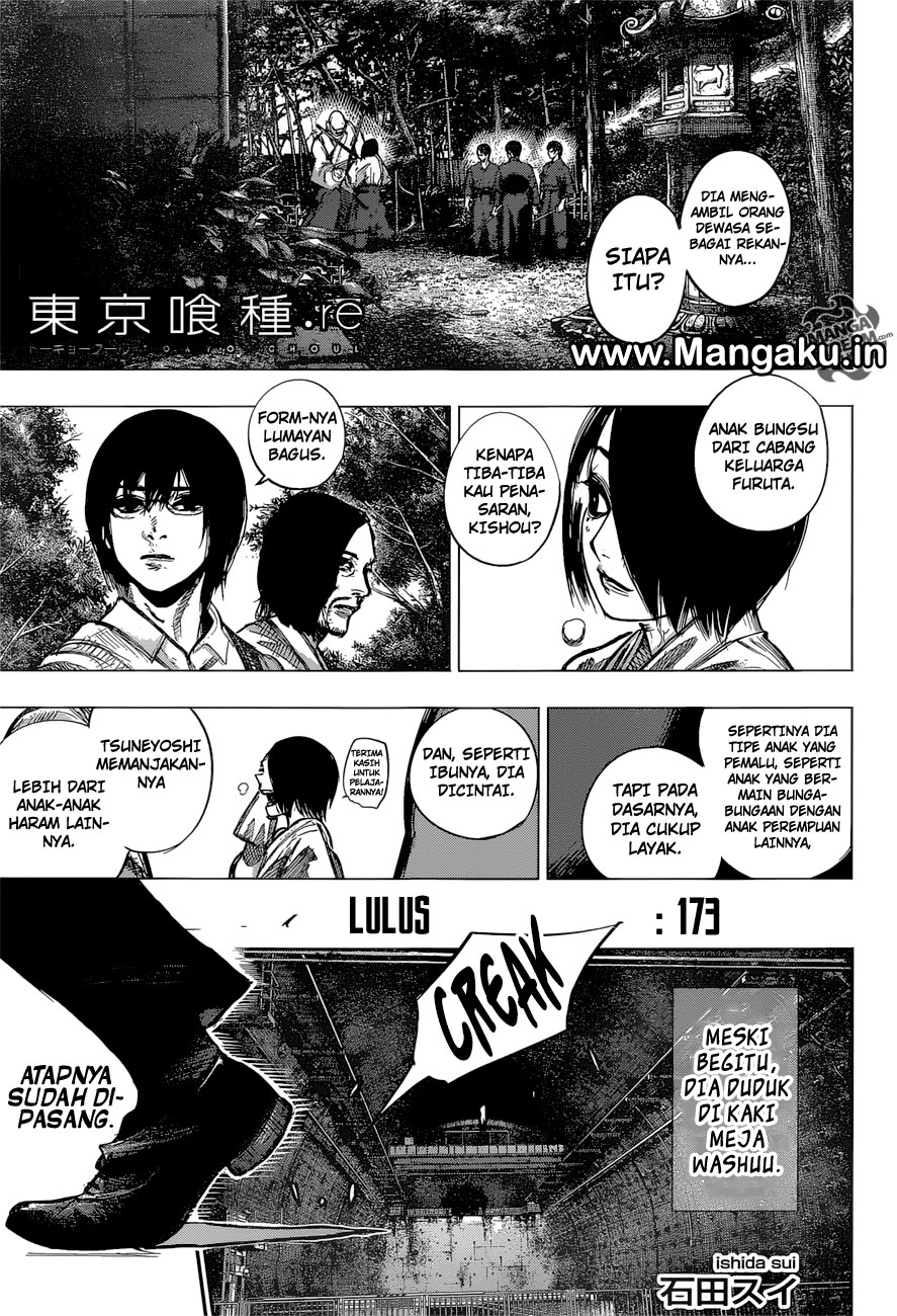 Tokyo Ghoul:Re Chapter 173 Bahasa Indonesia