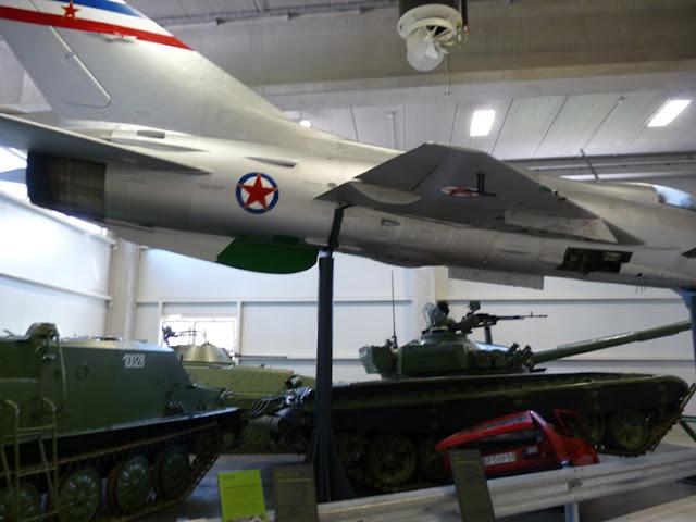 Aviones de guerra yugoslavos. Museo de Historia Militar. Eslovenia