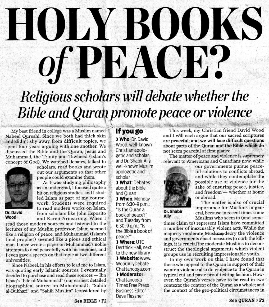 Answering Muslims: Holy Books of Peace? David Wood and Shabir Ally
