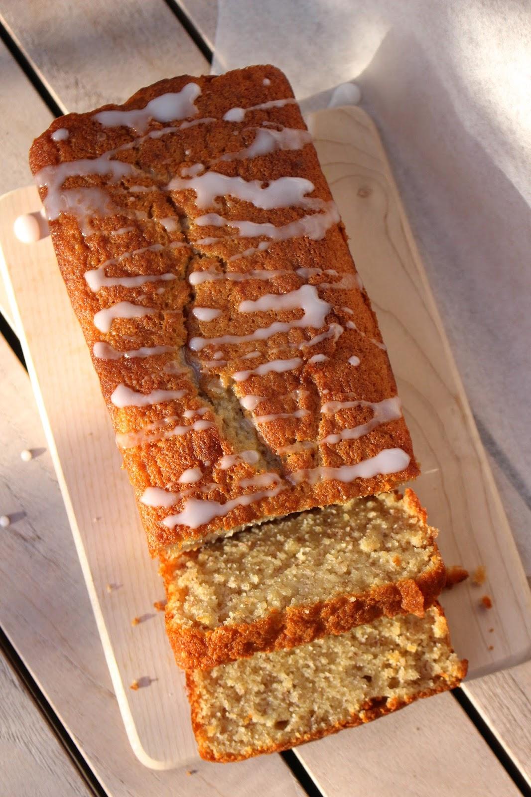 banana loaf food photography