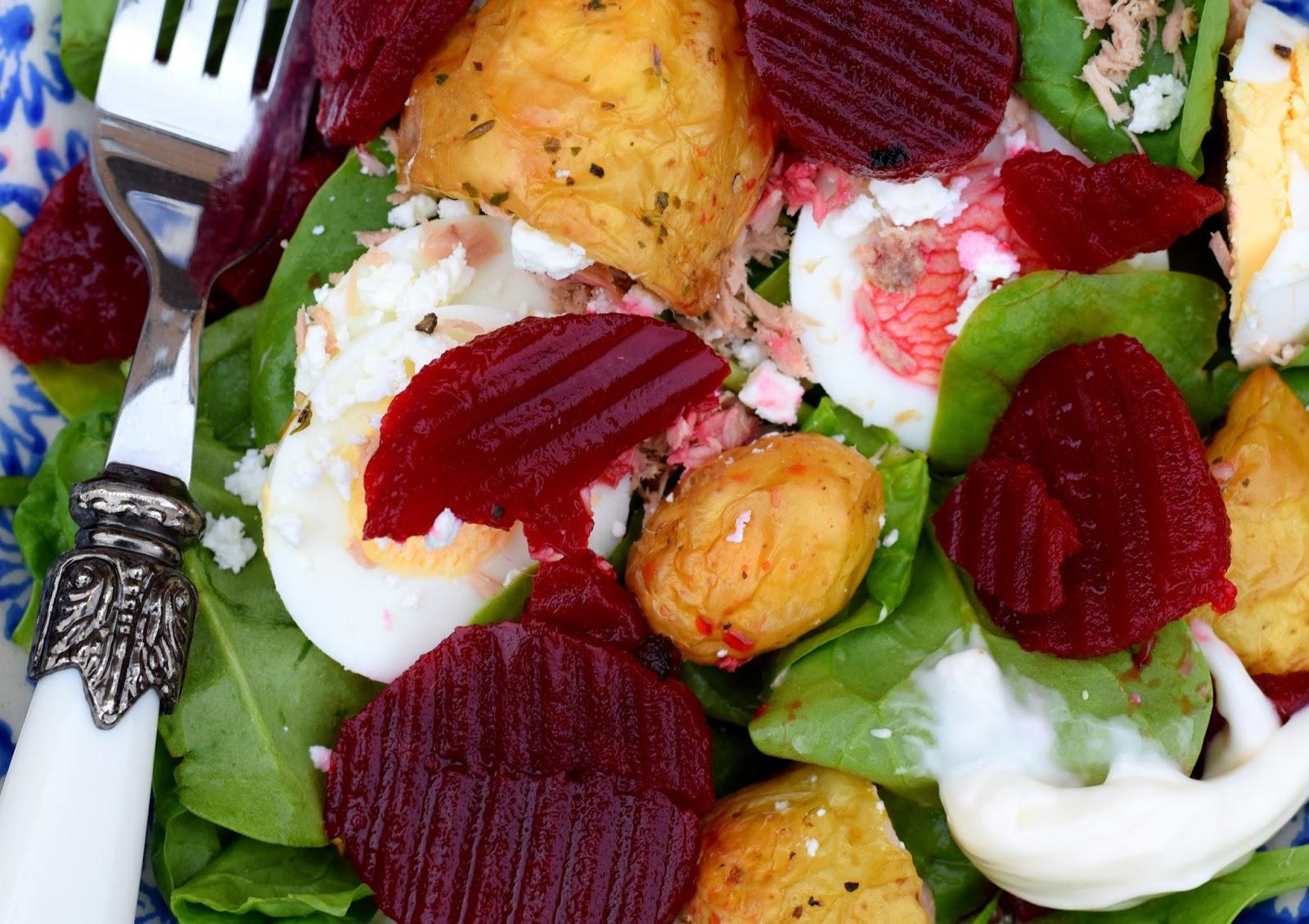 Summer Recipe: British Gems Baby Potatoes, Egg And Tuna Spinach Salad