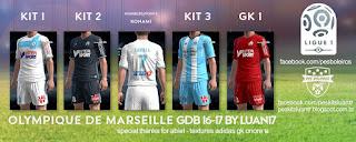 Kit Olympique de Marseille Adidas [2016-2017] Pes 2013