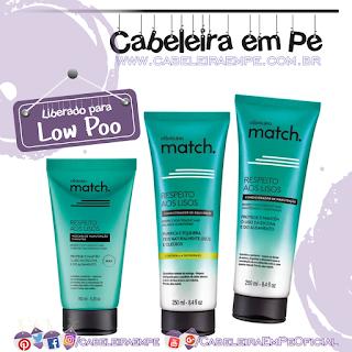 Condicionadores e Máscara Match Respeito Aos Lisos - O Boticário (Low Poo)