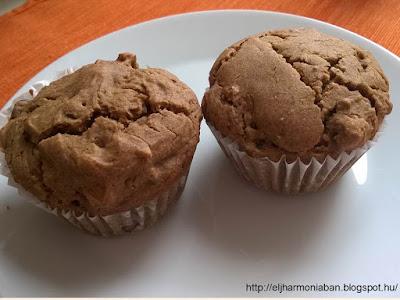 diós, mazsolás, mazsolás muffin, tojásmentes, tejmentes, muffin, diós muffin, hajdinalisztes, ekadasi,