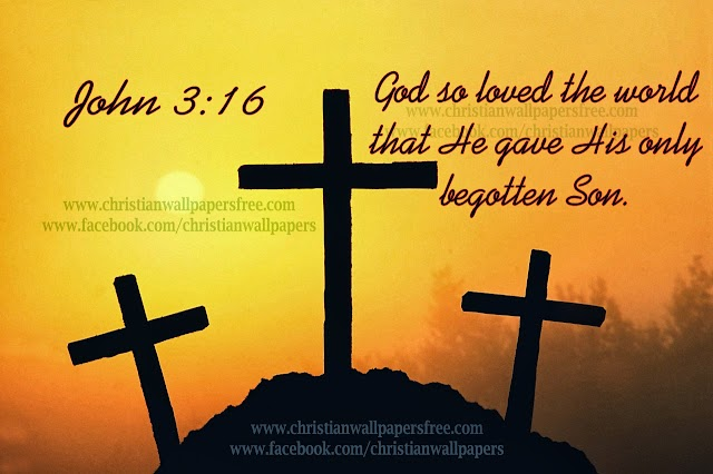 3 Crosses with Good Friday Bible Verse