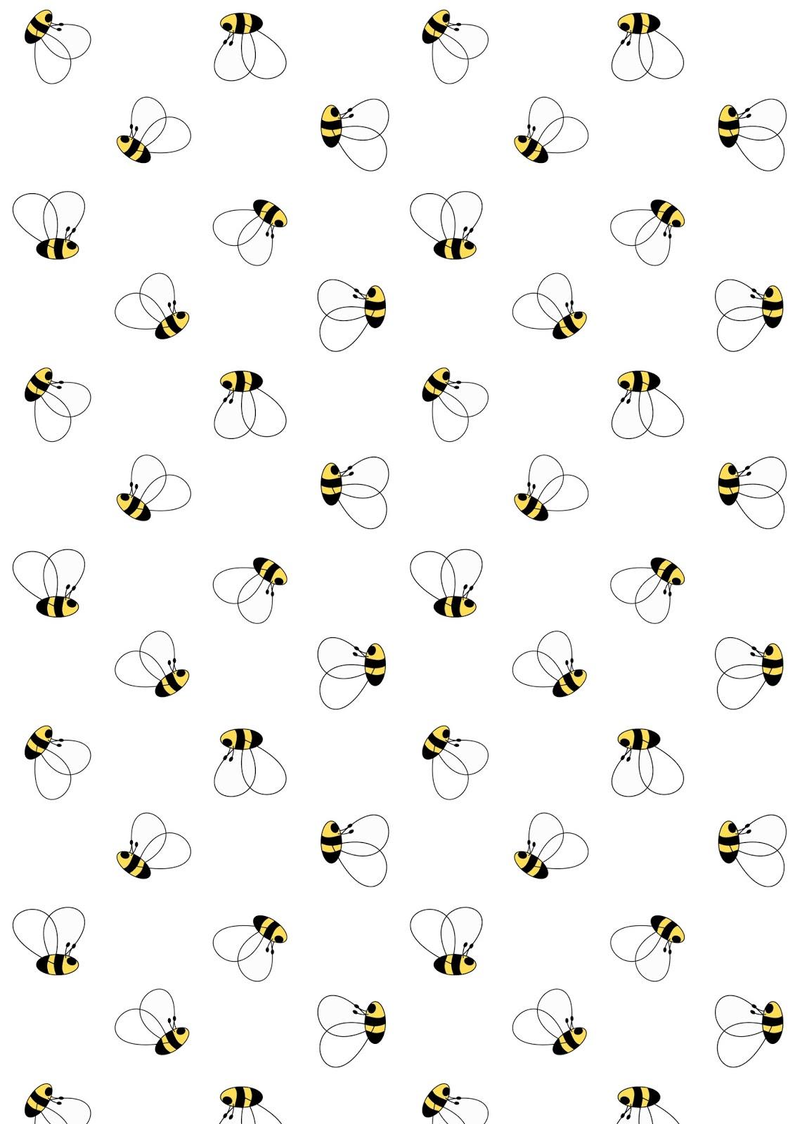 free digital bee scrapbooking paper and printable u2013 geschenkpapier