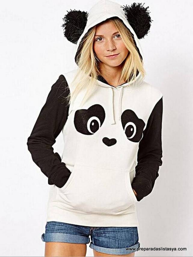 Sudadera chica panda Newchic