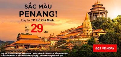đặt vé máy bay khuyến mãi Air Asia đến Penang giá từ 29 USD