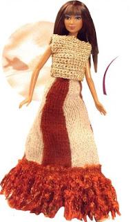Jupe longue pour Barbie
