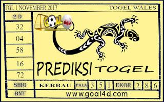 Prediksi Togel Wales 1 November 2017